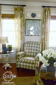 houndstooth home decor family room chair reveal stonegable