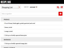 grocery list for thanksgiving dinner introducing foodnetwork com u0027s newest feature recipe box fn dish