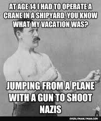 Old Boxer Meme - war overly manly man