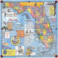 Map Of Florida by Literary Map Of Florida Literary Lantern Press