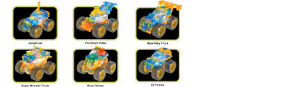 monster truck videos with music amazon com laser pegs super monster truck 6 in 1 building set