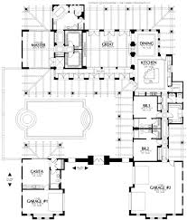 custom home blueprints home plans house plan courtyard santa style small hacienda with open