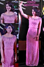 cocktail party attire replica priyanka chopra designer baby pink party wear dress fc161