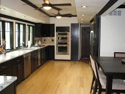 Best Flooring For A Kitchen by What Color Kitchen Cabinets With Dark Wood Floor Innovative Home