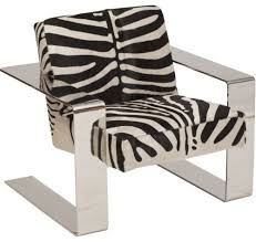Zebra Accent Chair Connor Zebra Chair Eclectic Armchairs And Accent Chairs By