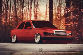 stanced mercedes benz 190e by sk1zzo on deviantart