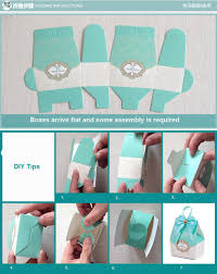 aliexpress com buy 50pcs blue candy boxes party favors wedding