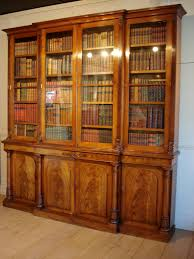 Break Front Bookcase Sold 19c Mahogany Breakfront Library Bookcase Antique Bookcases