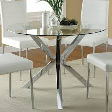 120760 round glass top dining table the clean lines and modern