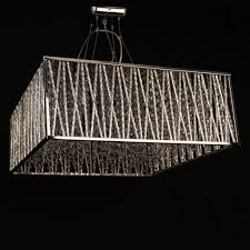 Square Chandelier Impex Melenki 5 Light Square Chrome Chandelier