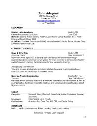 Examples Of Teen Resumes by Teenlife Guide To Writing Resumes