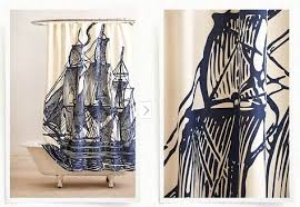 Trendy Shower Curtains A Tale Of Three Shower Curtains Nautical Obsessed Shoestring