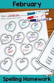 spelling homework for january spelling homework spelling