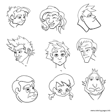 emotion happy face coloring pages printable