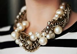 big chain necklace silver images Jewels necklace chunky big oversized pearl chain gold jpg
