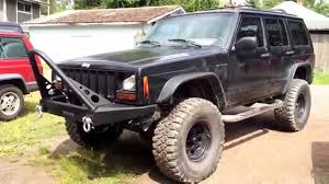 built jeep cherokee jeep cherokee xj rough country winch bumper and stinger