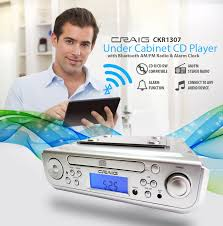 under cabinet stereo cd player under cabinet cd player with bluetooth am fm radio alarm clock