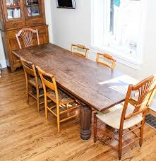 harvest dining room table antique harvest table and six dining chairs ebth