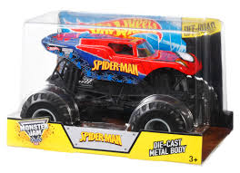 monster trucks toys wheels monster jam spider man vehicle shop wheels