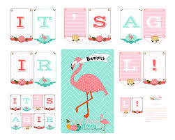 flamingo and flowers baby shower kiki u0026 company