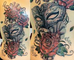 most innovative mardi gras tattoos mardi gras masks tattoo design