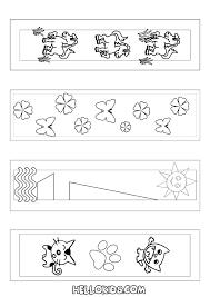 craft animal bookmark coloring hellokids