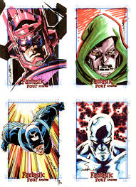 fantastic four sketch cards by cinar on deviantart