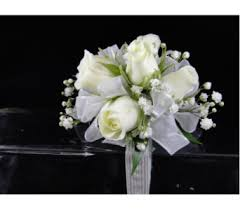White Corsages For Prom Prom Flowers Corsages And Boutonnieres Delivery Greenville Sc