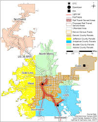 denver light rail expansion map the rail transit system and land use change in the denver metro