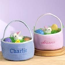 personalized wicker easter baskets seersucker personalized easter basket seersucker easter baskets