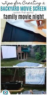 secret tips for creating an awesome diy backyard movie screen setup