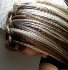platinum hairstyles with some brown chunky highlights and lowlights platinum hair dark brown hair