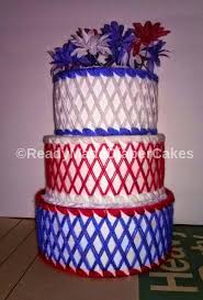 captain america themed baby shower 3 tier red white blue