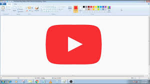Youtube Red Color 100 Subs Special How To Draw Youtube Play Button In Ms Paint From