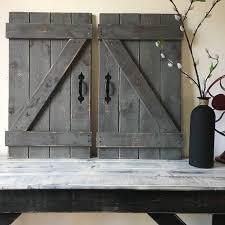 Living Room Decor Etsy Barn Door Decor Set Of 2 Large Rustic Barn Door Barn Door