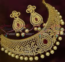 new fashion necklace images Nl12811 ad ruby white latest design choker new fashion bridal JPG