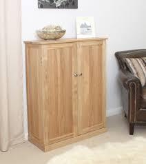 conran solid oak furniture shoe cupboard cabinet tall hallway