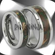 his and camo wedding rings camo tungsten rings and wedding bands by ring