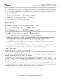 Resume Templates For Entry Level Jobs Entry Level Sample Resume Entry Level Marketing Resume Objective