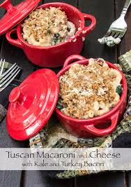 tuscan mac and cheese with kale and turkey bacon the scrumptious