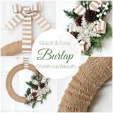burlap christmas burlap christmas wreath tutorial of family home