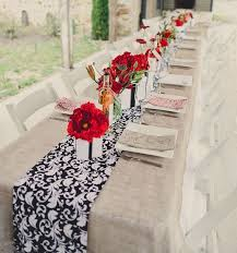 red and white table runner black white and red table settings my web value