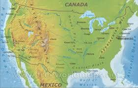 america map mountains usa map