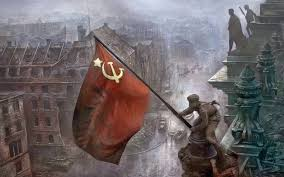 Famous Picture Of Soldiers Putting Up Flag Soldiers Raising The Soviet Flag Over The Reichstag Berlin 1945