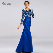 shop fashion evening dresses with mermaid o neck