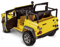 power wheels jeep yellow avigo land rover defender 12 volt ride on yellow toys