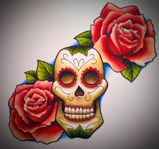 sugar skull and roses by artisticrender on deviantart