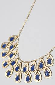 necklace blue stone images Accessories boutique necklace gold eyelet with blue stone JPG