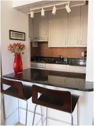 interior kitchen bar table design balck chairs under the lamp