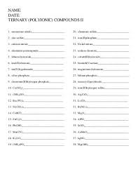 naming ionic compounds worksheet 2 everett community college